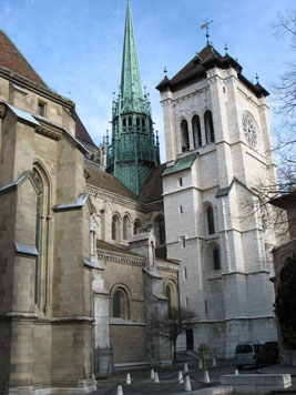 Visite générale de la cathédrale Saint-Pierre de Genève